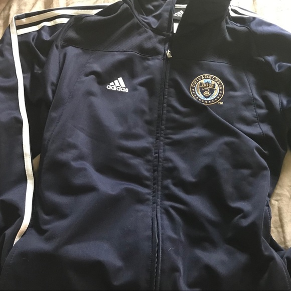 adidas Jackets & Blazers - Philadelphia Union Navy Zip Up Jacket Adidas
